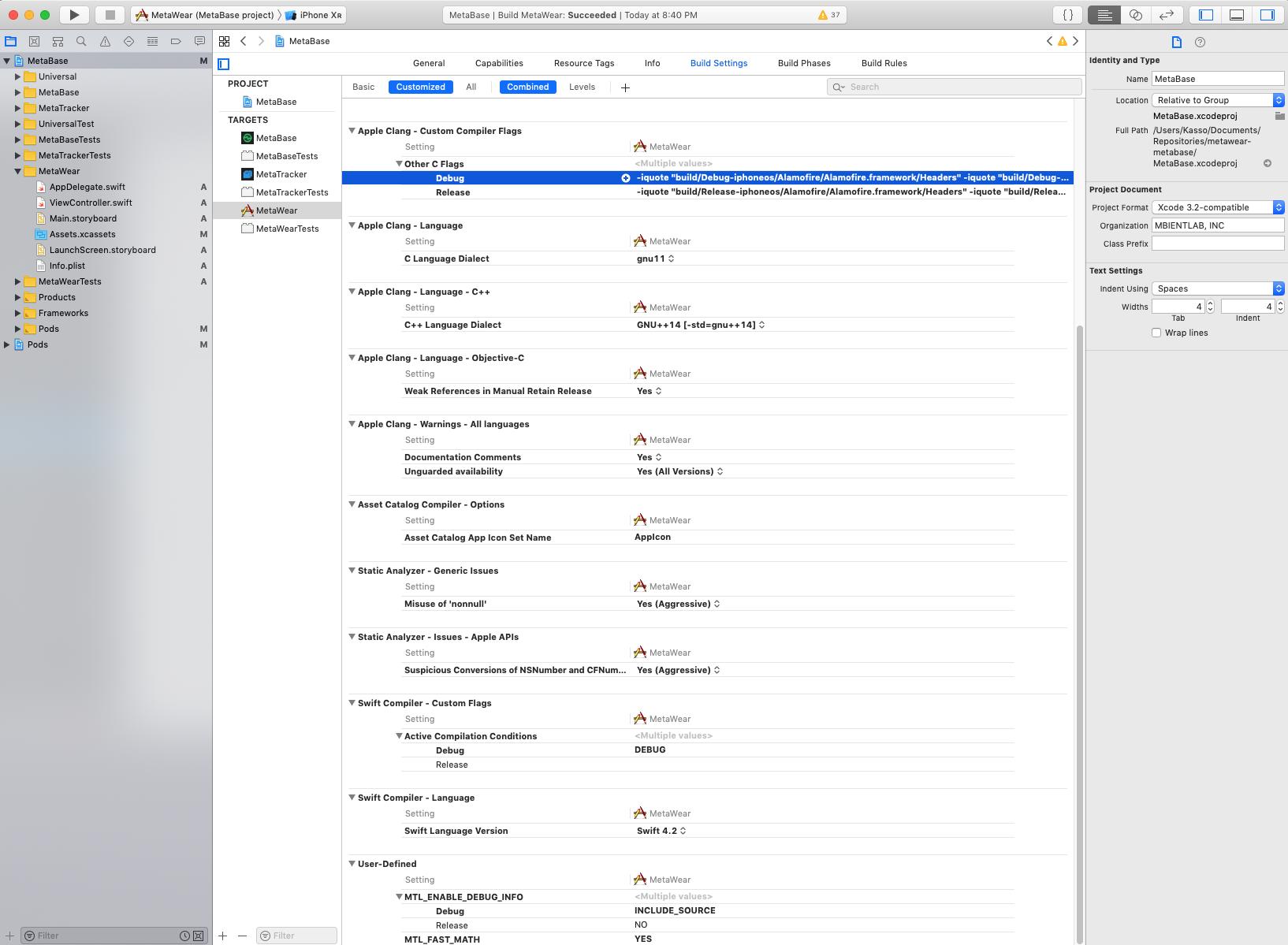 No such module 'MetaWearCpp' — MbientLab