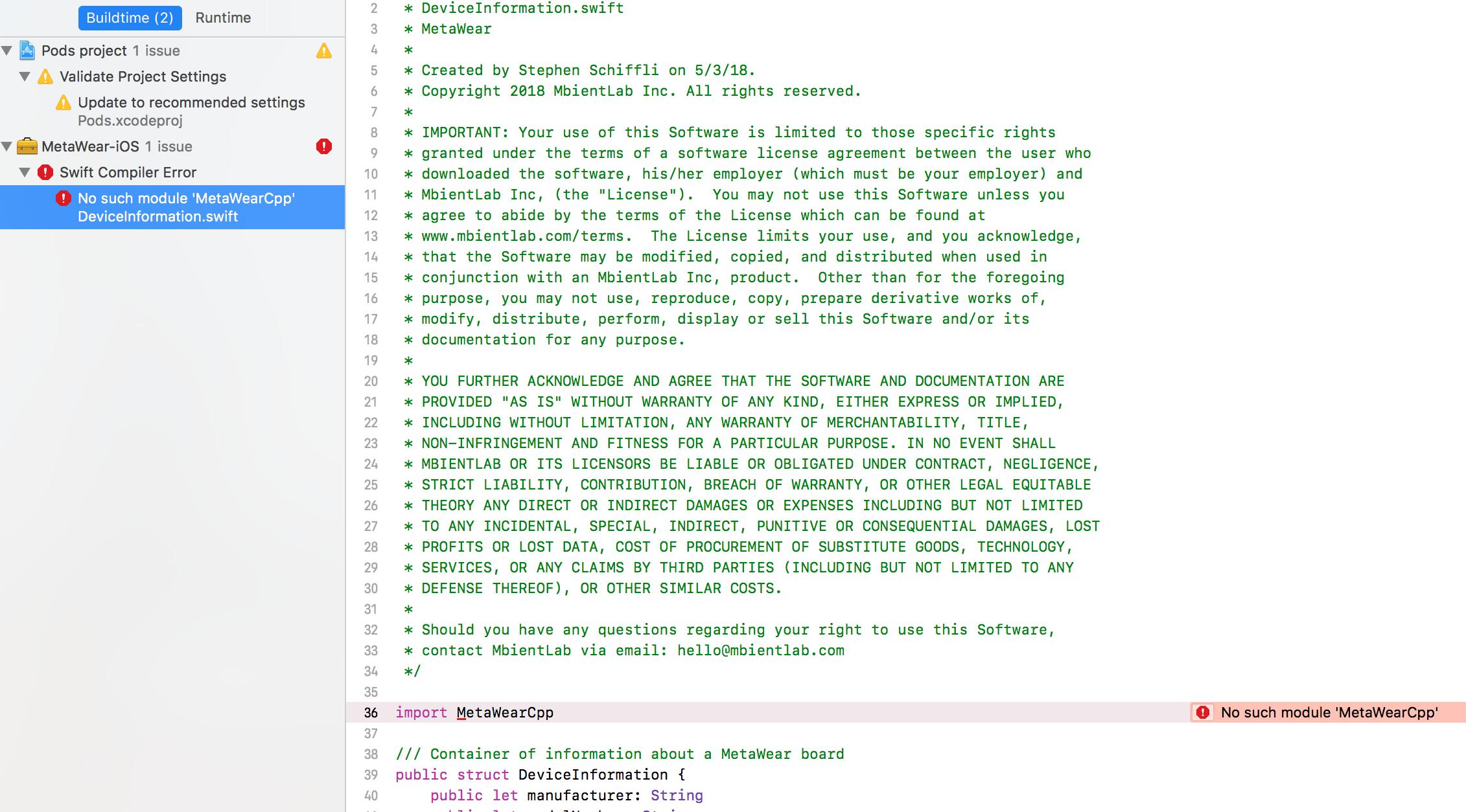 pods integration with v3 1 4 sdk — MbientLab
